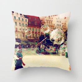 Street Life in Breslau Throw Pillow