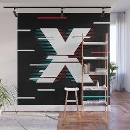 X futuristic poster Wall Mural