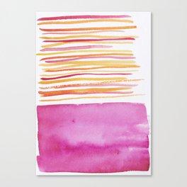 26   |181026 Lines & Color Block | Watercolor Abstract | Modern Watercolor Art Canvas Print