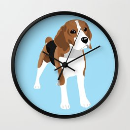 Beagle - Blue Wall Clock