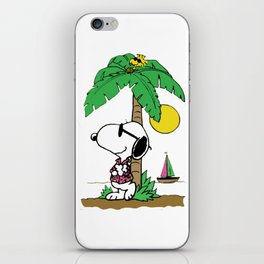 snoopy beach iPhone Skin