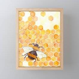 honeybee Framed Mini Art Print