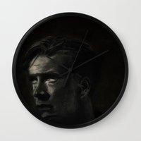 benedict cumberbatch Wall Clocks featuring Benedict Cumberbatch by Camisha Kelley