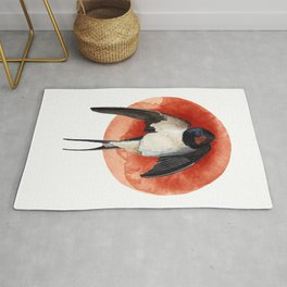 SWALLOW illustration Rug