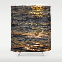 sparkle Shower Curtains featuring Sparkle by L Shannon Designs