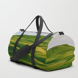 Rolling Green Hills In Heaven With Fluffy White clouds Duffle Bag
