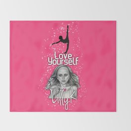 Love Yourself by Lilly K and Jenna Rose Simon Throw Blanket