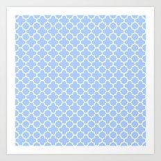 Pale Blue Moroccan Style Design Art Print