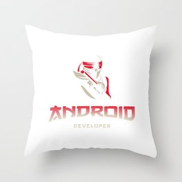 Android Developer guru Throw Pillow