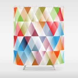 Triangles #1 Shower Curtain