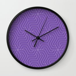 Royal purple - violet - Modern Vector Seamless Pattern Wall Clock