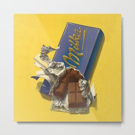 Chocolate Candy Bar Vintage Art Metal Print