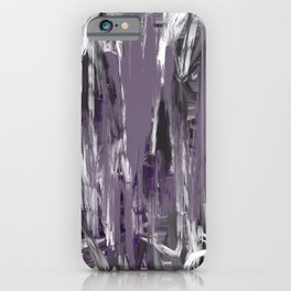 Grayed Purple Abstract iPhone Case