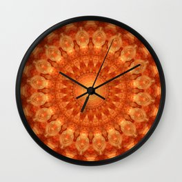 Mandala orange  Wall Clock