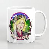 leslie knope Mugs featuring Leslie Knope by Rachel M. Loose