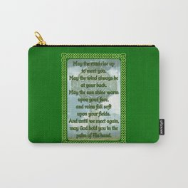 Green Irish Blessing Carry-All Pouch