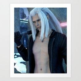 [Xedas] - Half Elf - Half Vampire - Sciense Fiction Fantasy - 3D Render Art Print