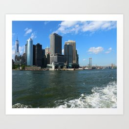 Manhattan Skyline From The Hudson River Art Print
