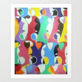 Trading Faces Art Print