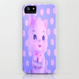 Polka dot kitty  iPhone Case