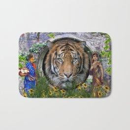 A wildlife, Bengal-tiger Bath Mat