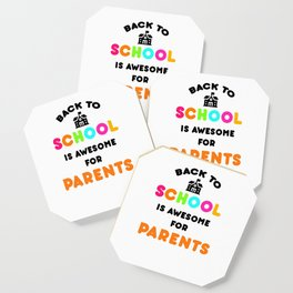 Funny Back to School art for Mom, Dad & Parents Light Coaster