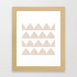 Lash in Tan Framed Art Print