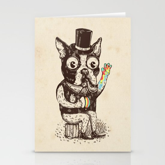 Strange Dog Stationery Cards