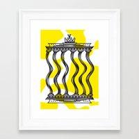 berlin Framed Art Prints featuring Berlin by Jan Luzar