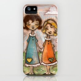A Childhood Shared - Sister Art iPhone Case