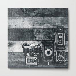 pile of cameras Metal Print
