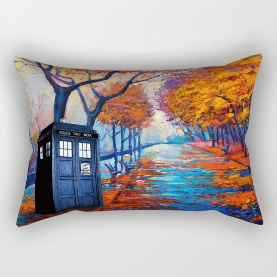 Tardis Autumn Alley Rectangular Pillow