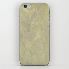 Champagne Skies Silver And Gold Metallic Plasters - Fancy Faux Finishes iPhone Skin