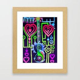 Fusion Keyblade Guitar #184 - Dual Disk & Overdrive Framed Art Print
