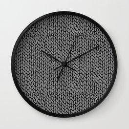 Hand Knit Dark Grey Wall Clock