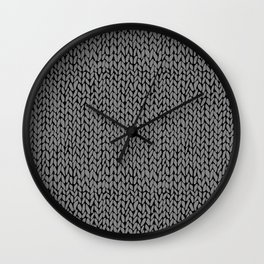 Hand Knit Dark Grey Wall Clock