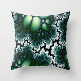 Featherscape Fractal Throw Pillow
