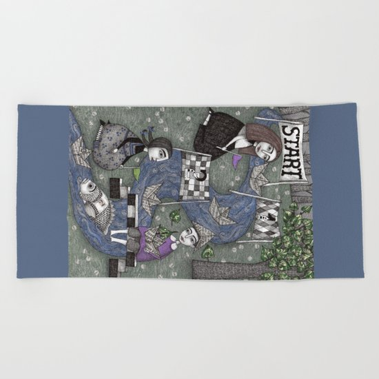 The Boat Race Beach Towel