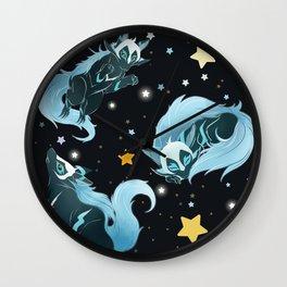 Cosmic Wolf Wall Clock