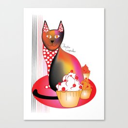 Charlie Cupcakes Canvas Print