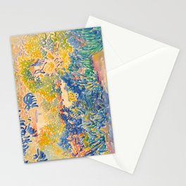Henri-Edmond Cross Neo-Impressionism Pointillism The Artist's Garden at St. Clair Watercolor Paintin Stationery Cards