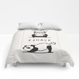 Inhale Exhale Panda Comforters