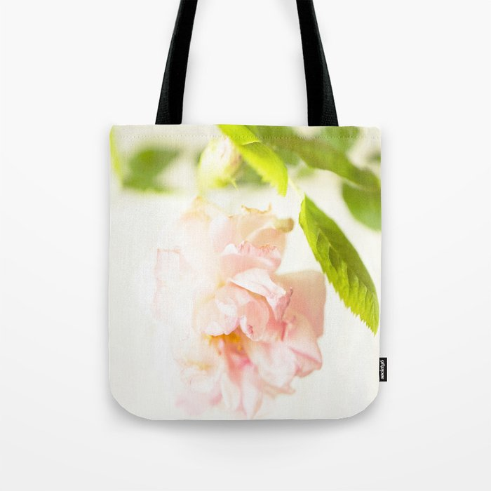 Romantic Soft Pink Rose On A White Background #decor #buyart #society6 Tote Bag