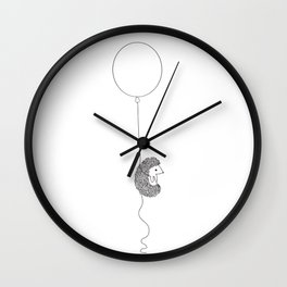 Hedgehog and Balloon Wall Clock