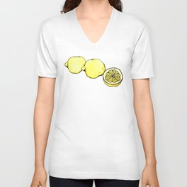 Trois Citrons 2 Unisex V-Neck