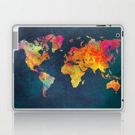World Map blue #world #map Laptop & iPad Skin