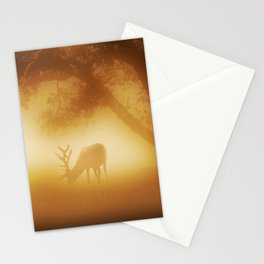 Elk in Early Morning Mist Stationery Cards