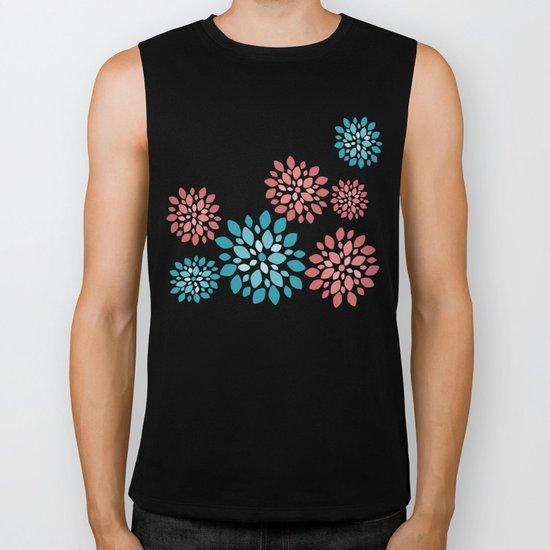 Flower Flurries Biker Tank
