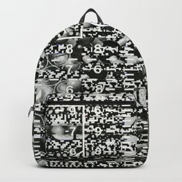 Variance Police (P/D3 Glitch Collage Studies) Backpack