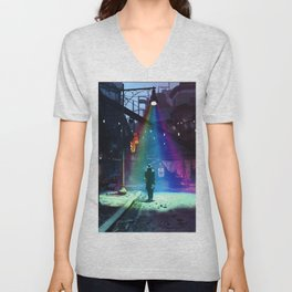 Space Ship in Fallout Video game Unisex V-Neck